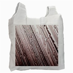 Vintage Pattern Background Wallpaper Recycle Bag (two Side)