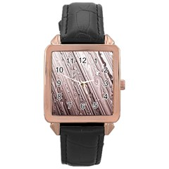 Vintage Pattern Background Wallpaper Rose Gold Leather Watch