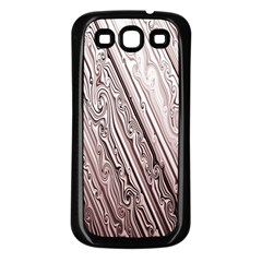 Vintage Pattern Background Wallpaper Samsung Galaxy S3 Back Case (Black)