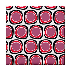 Wheel Stones Pink Pattern Abstract Background Tile Coasters