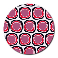 Wheel Stones Pink Pattern Abstract Background Round Mousepads