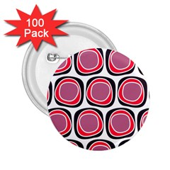 Wheel Stones Pink Pattern Abstract Background 2 25  Buttons (100 Pack)