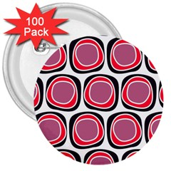 Wheel Stones Pink Pattern Abstract Background 3  Buttons (100 pack)