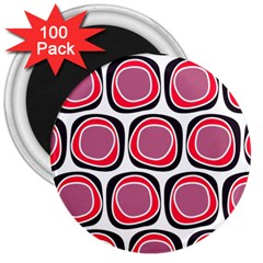 Wheel Stones Pink Pattern Abstract Background 3  Magnets (100 Pack)