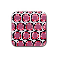 Wheel Stones Pink Pattern Abstract Background Rubber Square Coaster (4 Pack)