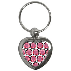 Wheel Stones Pink Pattern Abstract Background Key Chains (heart)