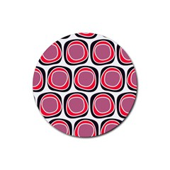 Wheel Stones Pink Pattern Abstract Background Rubber Coaster (round)