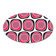 Wheel Stones Pink Pattern Abstract Background Oval Magnet