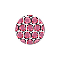 Wheel Stones Pink Pattern Abstract Background Golf Ball Marker