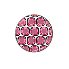 Wheel Stones Pink Pattern Abstract Background Hat Clip Ball Marker