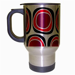 Wheel Stones Pink Pattern Abstract Background Travel Mug (Silver Gray)