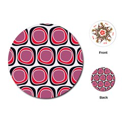 Wheel Stones Pink Pattern Abstract Background Playing Cards (round)