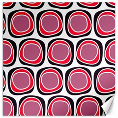 Wheel Stones Pink Pattern Abstract Background Canvas 16  X 16
