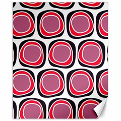 Wheel Stones Pink Pattern Abstract Background Canvas 16  x 20