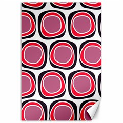 Wheel Stones Pink Pattern Abstract Background Canvas 20  x 30