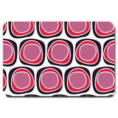 Wheel Stones Pink Pattern Abstract Background Large Doormat