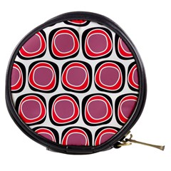 Wheel Stones Pink Pattern Abstract Background Mini Makeup Bags