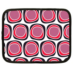 Wheel Stones Pink Pattern Abstract Background Netbook Case (xl)