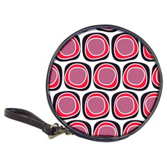 Wheel Stones Pink Pattern Abstract Background Classic 20-CD Wallets