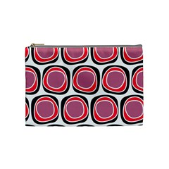 Wheel Stones Pink Pattern Abstract Background Cosmetic Bag (Medium)