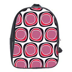 Wheel Stones Pink Pattern Abstract Background School Bags(large)