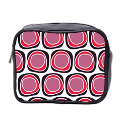 Wheel Stones Pink Pattern Abstract Background Mini Toiletries Bag 2 Side
