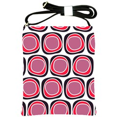 Wheel Stones Pink Pattern Abstract Background Shoulder Sling Bags