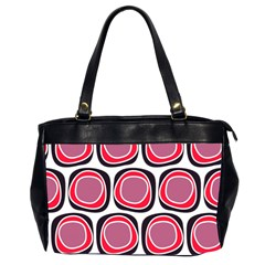 Wheel Stones Pink Pattern Abstract Background Office Handbags (2 Sides)