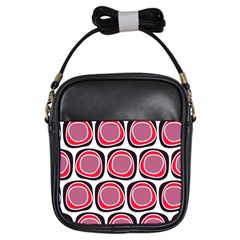 Wheel Stones Pink Pattern Abstract Background Girls Sling Bags