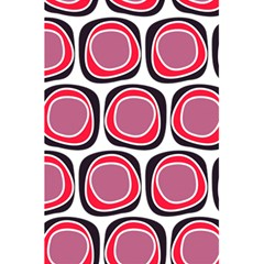 Wheel Stones Pink Pattern Abstract Background 5.5  x 8.5  Notebooks