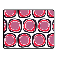 Wheel Stones Pink Pattern Abstract Background Fleece Blanket (Small)