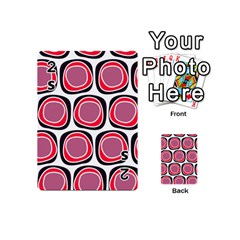 Wheel Stones Pink Pattern Abstract Background Playing Cards 54 (mini)