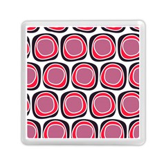 Wheel Stones Pink Pattern Abstract Background Memory Card Reader (square)