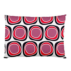 Wheel Stones Pink Pattern Abstract Background Pillow Case (two Sides)