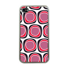 Wheel Stones Pink Pattern Abstract Background Apple Iphone 4 Case (clear)