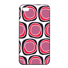 Wheel Stones Pink Pattern Abstract Background Apple Iphone 4/4s Seamless Case (black)