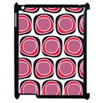 Wheel Stones Pink Pattern Abstract Background Apple iPad 2 Case (Black) Front