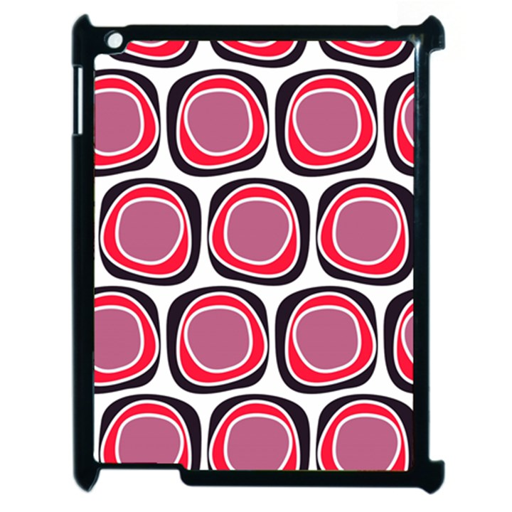 Wheel Stones Pink Pattern Abstract Background Apple iPad 2 Case (Black)