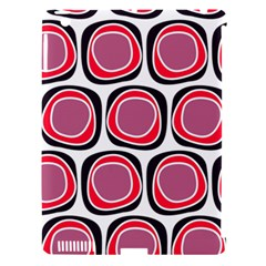 Wheel Stones Pink Pattern Abstract Background Apple Ipad 3/4 Hardshell Case (compatible With Smart Cover)