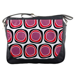 Wheel Stones Pink Pattern Abstract Background Messenger Bags