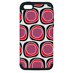 Wheel Stones Pink Pattern Abstract Background Apple Iphone 5 Hardshell Case (pc+silicone)