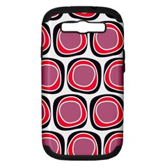 Wheel Stones Pink Pattern Abstract Background Samsung Galaxy S III Hardshell Case (PC+Silicone)