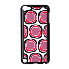 Wheel Stones Pink Pattern Abstract Background Apple Ipod Touch 5 Case (black)