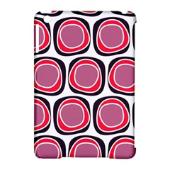 Wheel Stones Pink Pattern Abstract Background Apple iPad Mini Hardshell Case (Compatible with Smart Cover)