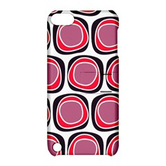 Wheel Stones Pink Pattern Abstract Background Apple iPod Touch 5 Hardshell Case with Stand
