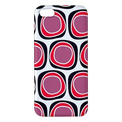Wheel Stones Pink Pattern Abstract Background Apple iPhone 5 Premium Hardshell Case