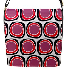 Wheel Stones Pink Pattern Abstract Background Flap Messenger Bag (S)