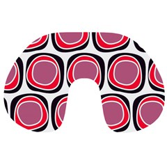 Wheel Stones Pink Pattern Abstract Background Travel Neck Pillows