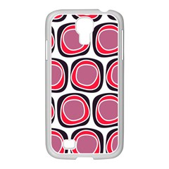Wheel Stones Pink Pattern Abstract Background Samsung Galaxy S4 I9500/ I9505 Case (white)
