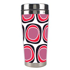 Wheel Stones Pink Pattern Abstract Background Stainless Steel Travel Tumblers
